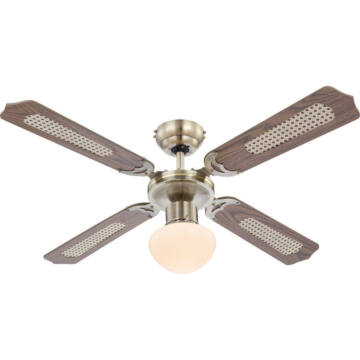 Globo CHAMPION 0309 stropni ventilator starinska bronasta 1 * E27 max. 60 W E27 1 kos