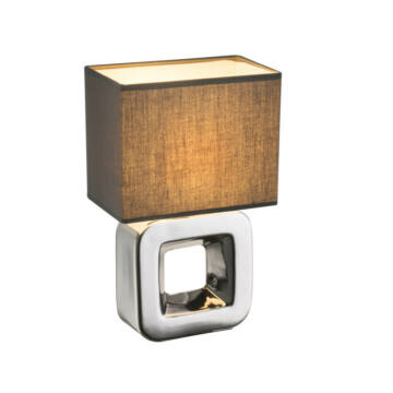 Globo KILAUEA 21603 nočna namizna svetilka krom keramika 1 * E14 max. 40 W E14 1 kos
