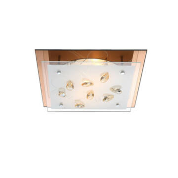 Globo AYANA 40412-2 kristalna stropna svetilka 2 * E27 ILLU max. 40 W E27 ILLU 2 kos