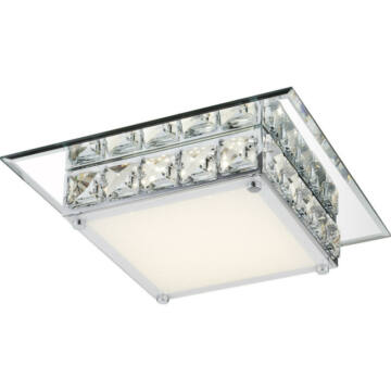 Globo MARGO 49355 kristalna stropna svetilka krom 1 * LED max. 12 W LED 1 kos 720 lm 4000 K A+