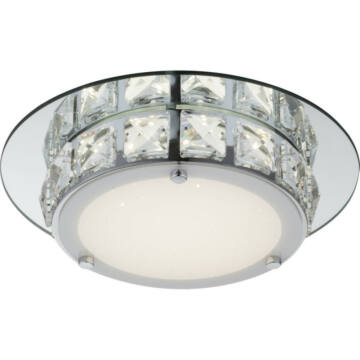 Globo MARGO 49356 kristalna stropna svetilka krom 1 * LED max. 12 W LED 1 kos 720 lm 4000 K A+