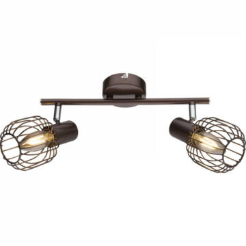 Globo AKIN 54801-2 stropna svetilka rjava 2 * E14 max. 40 W E14 2 kos