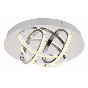 Globo KEANA 67126-15 stropna svetilka krom LED 1 kos 900 lm 3000 K A