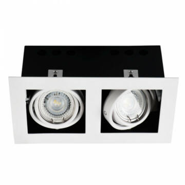 Kanlux Meril 26481 vgrajena reflektorica aluminij 2 x GU10 max. 35W GU10 2 kos IP20