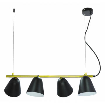 Rábalux Alder 5377 svetilka za jedilnico črna kovinski E14 4x MAX 40 E14 4 kos IP20