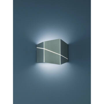Trio ZORRO 223210107 stenska svetilka mat nikelj kovinski incl. 1 x SMD, 6,5W, 3000K, 500Lm SMD 1 kos 500 lm IP20 A+