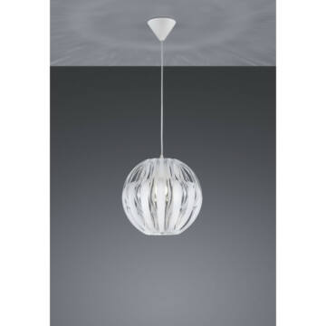 Trio PUMPKIN R30473001 enokraka obesečna svetilka bela plastika excl. 1 x E27, max. 40W E27 1 kos IP20