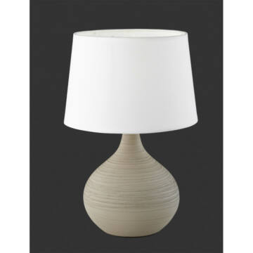 Trio MARTIN R50371025 nočna namizna svetilka keramika excl. 1 x E14, max. 40W E14 1 kos IP20