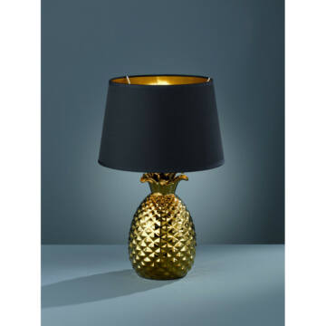 Trio PINEAPPLE R50431079 nočna namizna svetilka zlato keramika excl. 1 x E27, max. 60W E27 1 kos IP20