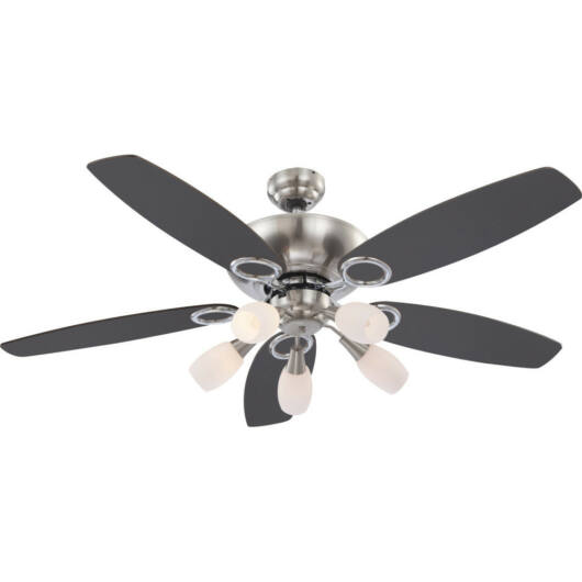Globo JERRY 0337 stropni ventilator krom 5 * E14 max. 40 W E14 5 kos