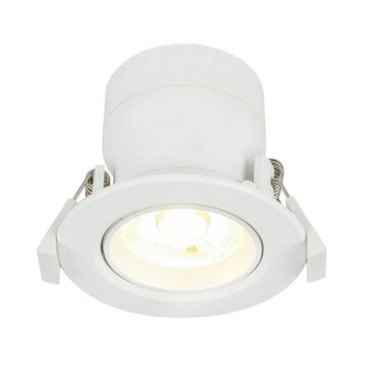 Globo POLLY 12393-5 vgrajena reflektorica bela aluminij 1 * LED max. 5 W LED 1 kos 400 lm 3000 K A+