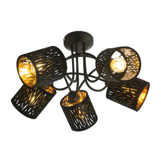 Globo TUXON 15264-5D stropna svetilka  črna   kovinski   5 x E14 max. 25W   IP20