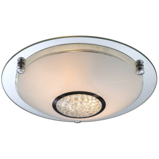 Globo EDERA 48339-2 kristalna stropna svetilka  krom   2 * E27 ILLU max. 60 W
