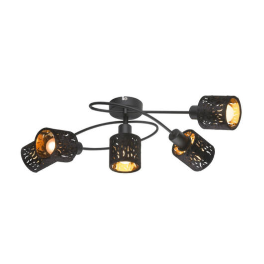 Globo TROY 54121-5 stropna svetilka  črna   kovinski   5 * E14 max. 8 W
