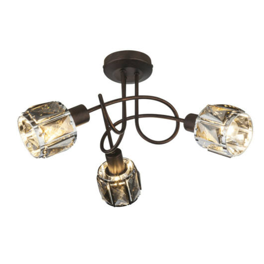 Globo INDIANA 54357-3 stropna svetilka  bronasta   kovinski   3 * E14 max. 40 W