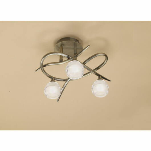 Mantra LOOP 1824 stropna svetilka  medenina   kovinski   3x G9 max. 33W