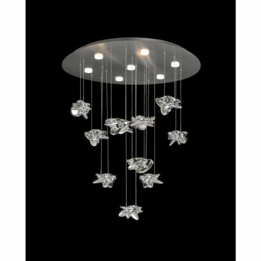 Mantra Nido 5900 stropna svetilka  nikelj   kovinski   LED - 1 x 60W   6560 lm  3000 K  IP20   A++