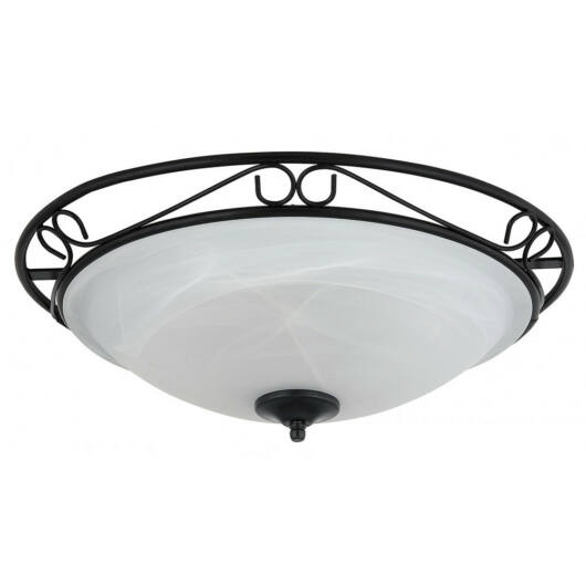 Rábalux Athen 3723 stropna svetilka  črna   kovinski   E27 3x MAX 60W   IP20