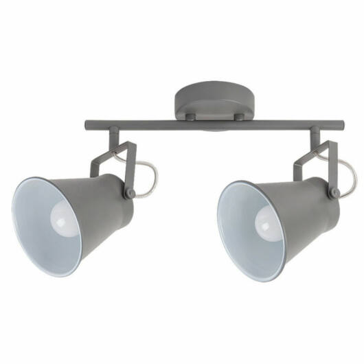 Rábalux Martina 6686 stropna svetilka siva kovinski E27 2x MAX 60W E27 2 kos IP20