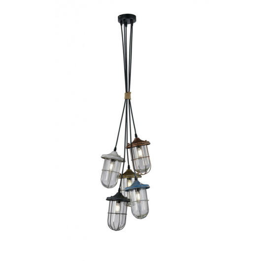 Trio BIRTE 303800517 stropna svetilka  baker   kovinski   excl. 5 x E14, max. 40W   IP20