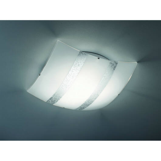 Trio NIKOSIA 608700389 stropna svetilka  srebro   steklo   excl. 3 x E27, max. 40W   IP20