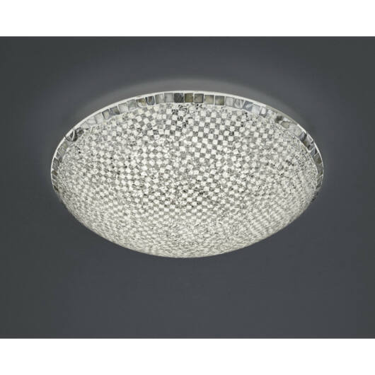 Trio MOSAIQUE 673013089 ufo svetilka  srebro   steklo   incl. 1 x SMD, 30W, 3000K, 2650Lm   2650 lm  3000 K  IP20   A